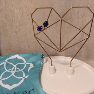 Kendra Scott Navy Druzy Earrings